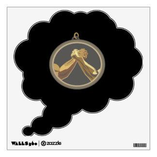Arm Wrestling Medal Wall Sticker