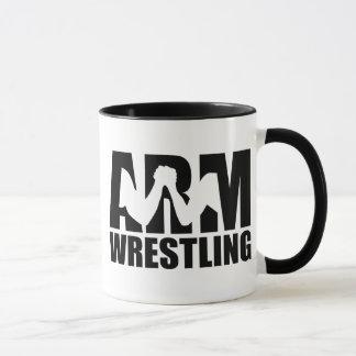 Arm wrestling mug