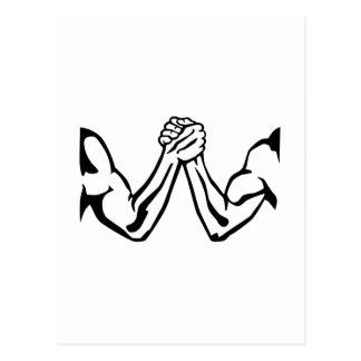 Arm wrestling postcard
