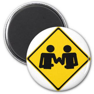 Arm Wrestling Road Sign Magnet