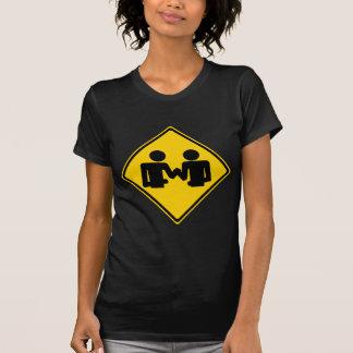 Arm Wrestling Road Sign T-Shirt