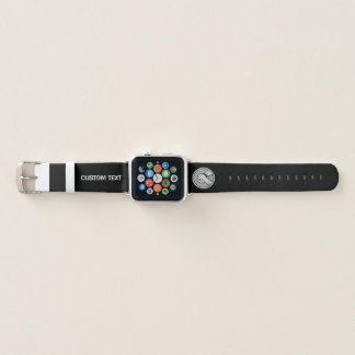 Arm wrestling Silver Apple Watch Band