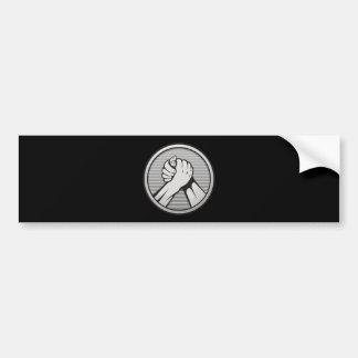 Arm wrestling Silver Bumper Sticker