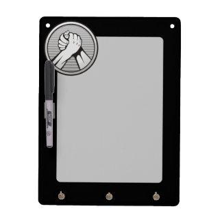 Arm wrestling Silver Dry-Erase Board