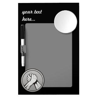 Arm wrestling Silver Dry Erase Board With Mirror