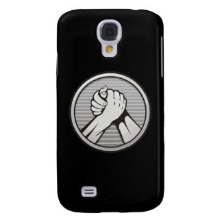 Arm wrestling Silver Galaxy S4 Cover