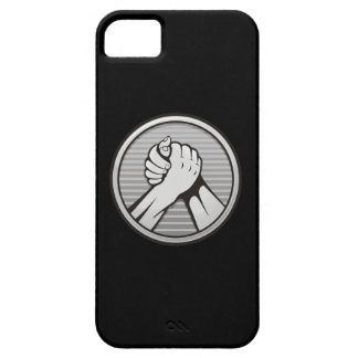 Arm wrestling Silver iPhone SE/5/5s Case