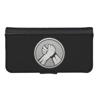 Arm wrestling Silver iPhone SE/5/5s Wallet