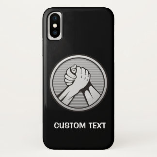 Arm wrestling Silver iPhone X Case