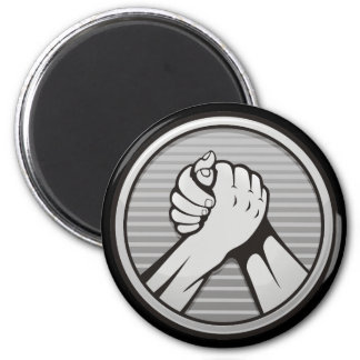 Arm wrestling Silver Magnet