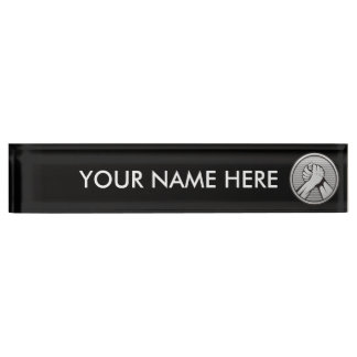Arm wrestling Silver Name Plate