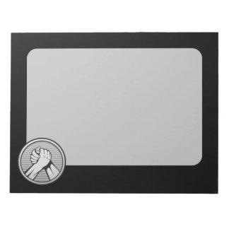 Arm wrestling Silver Notepad