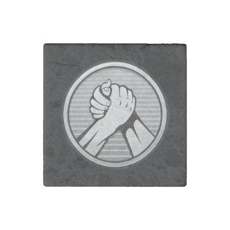 Arm wrestling Silver Stone Magnet