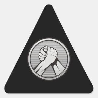 Arm wrestling Silver Triangle Sticker