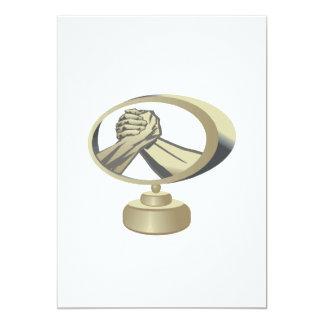 Arm Wrestling Trophy 5x7 Paper Invitation Card