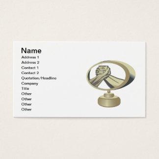 Arm Wrestling Trophy Business Card