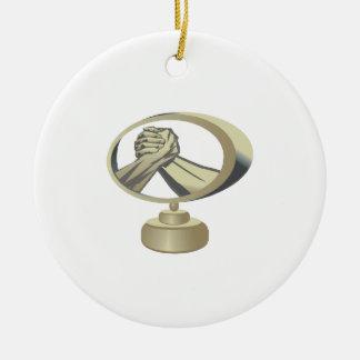 Arm Wrestling Trophy Ceramic Ornament