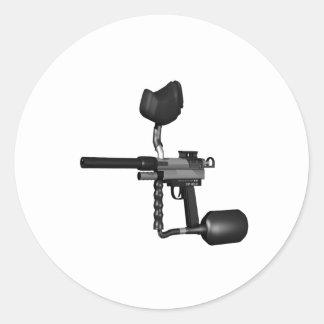 Arma 2 de Paintball Pegatina Redonda