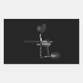 Arma 2 de Paintball Pegatina Rectangular