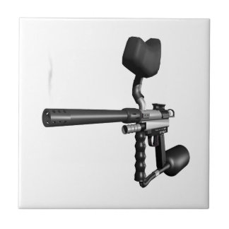 Arma 4 de Paintball Azulejo Cuadrado Pequeño
