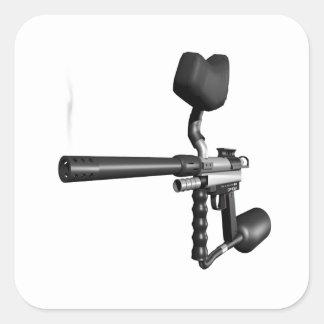 Arma 4 de Paintball Pegatina Cuadrada