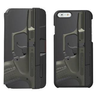 Arma automático de la mano funda billetera para iPhone 6 watson