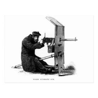 Arma automático de la máxima tarjeta postal