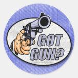 ¿Arma conseguido? … Pegatina Redonda