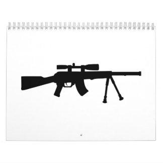 Arma de Airsoft Calendario De Pared
