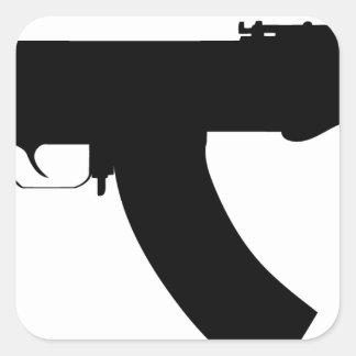 Arma de Ak47 Pegatina Cuadrada