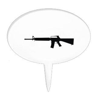 Arma de asalto figura para tarta