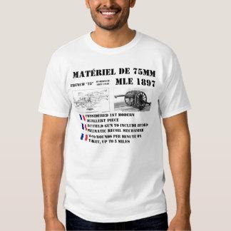 Arma de campo del francés 75m m remera