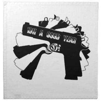 Arma de fuego 1911 (un buen año) servilletas