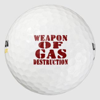 Arma de la destrucción del gas pack de pelotas de golf