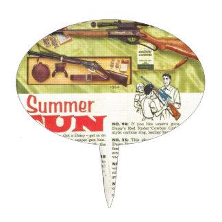 Arma de la diversión del verano figura de tarta