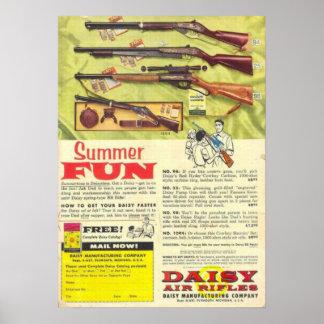 Arma de la diversión del verano póster