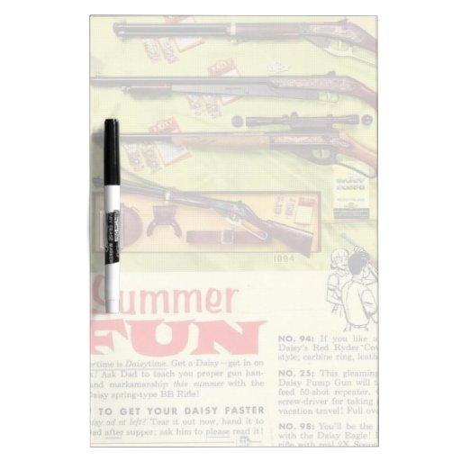 Arma de la diversión del verano tablero blanco