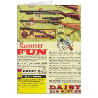 Arma de la diversión del verano tarjeta de felicitación