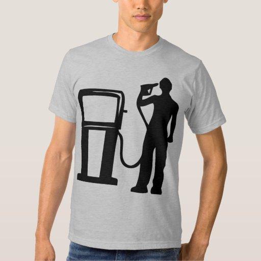 Arma de la gasolinera en la cabeza camisas