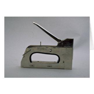 Arma de la grapa tarjeta de felicitación