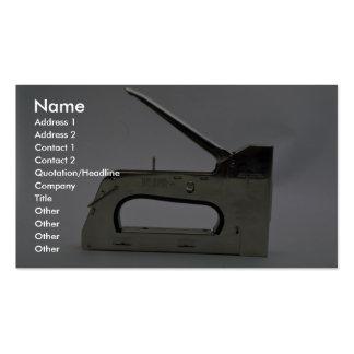 Arma de la grapa tarjetas de visita