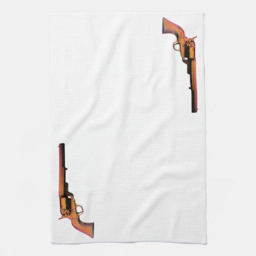 arma de la impresión de pantalla toallas de mano
