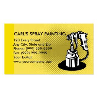 arma de la pintura a pistola plantillas de tarjeta de negocio