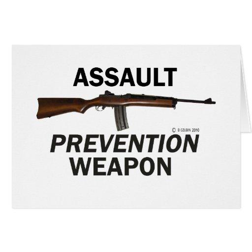 ¡Arma de la prevención del asalto! Tarjeta De Felicitación