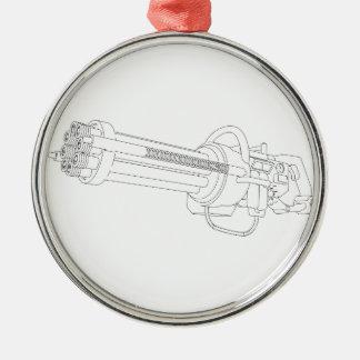 Arma de la rotación de Steampunk Adornos De Navidad