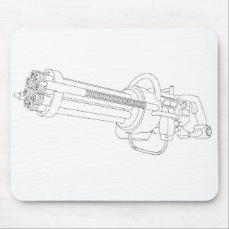 Arma de la rotación de Steampunk Tapete De Ratón