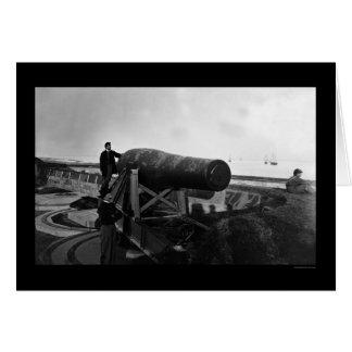 Arma de Lincoln en Fort Monroe, VA 1864 Tarjeta De Felicitación