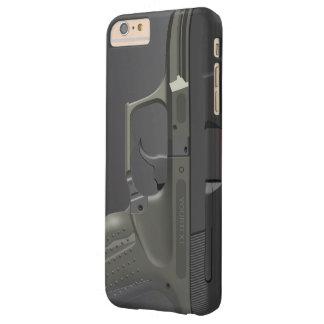 Arma de mano automática funda de iPhone 6 plus barely there