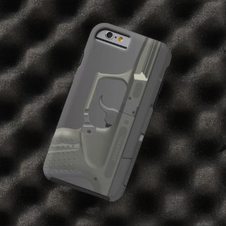 Arma de mano automática funda de iPhone 6 tough