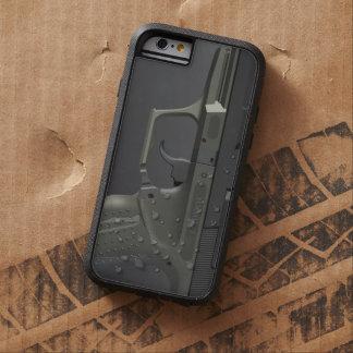 Arma de mano automática funda de iPhone 6 tough xtreme